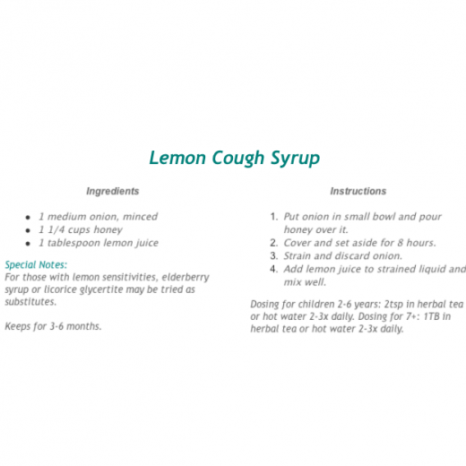 Lemon Cough Syrup